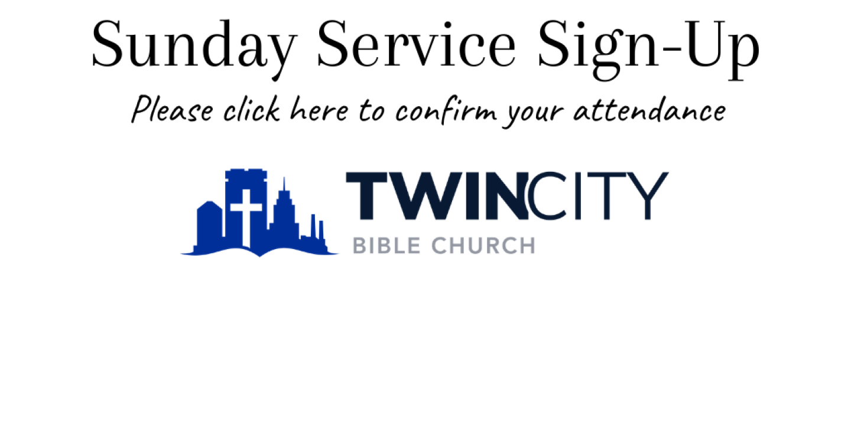 Sunday Service Sign-Up