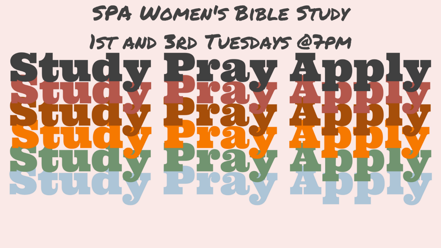 SPA Ladies Bible Study